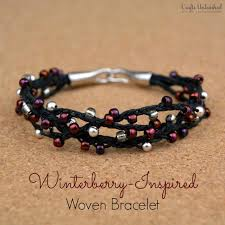 winterberry inspired woven bracelet with beads diy beaded bracelets you bead crafts should