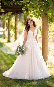 Essense Designs Australia Full A Line Wedding Dress With Floral Details