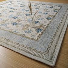 french country style blue flower fl floor mat area rug carpet brand new