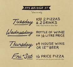 daily deals at pps bridge