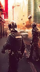 cyberpunk police 4k iphone 6 iphone 6s iphone 7