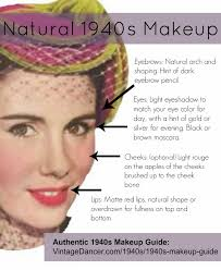 how to create a natural 1940s makeup look