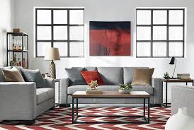 contemporary living room with small corner bookcase