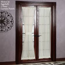 Splendent Abri Ivory Crushed Sheer Door Curtain ...