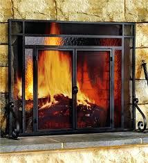 glass door fireplace fireplace screen and glass doors incredible large tubular fire screens plow hearth home glass door fireplace