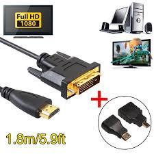 Dây cáp chuyển đổi cổng HDMI sang DVI tiện dụng chất lượng cao, Giá tháng  1/2021