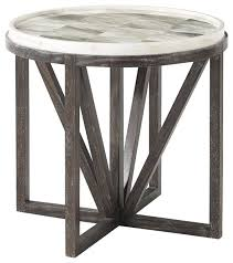 theodore alexander highlands buda round accent table transitional side tables and end tables by benjamin rugs and furniture