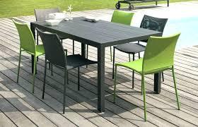 Ensemble table et chaise de jardin aluminium meuble exterieur pas ...