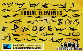 Free Download Of Tribal Tattoo Elements Vector Graphic Vectorme