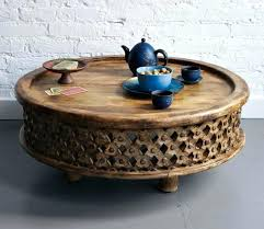 round wood coffee table rustic round carved wood coffee table rustic with storage drawer tables for