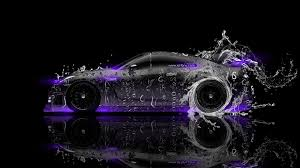 nissan gtr r35 side water car