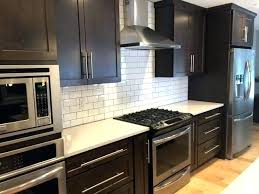 backsplash for black cabinets kitchen