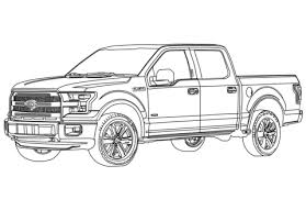 Ford F150 Pickup Truck coloring page | Free Printable Coloring Pages