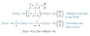 solve the resulting quadratic equation
