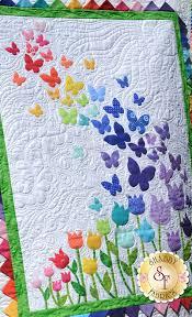 1685 best quilt-spiration images on Pinterest   Quilt patterns ... & Blooming Butterflies Quilt Kit - Pre-Fused/Laser-Cut Adamdwight.com