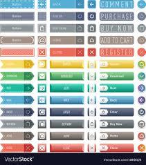 Colorful Website Web Buttons Design