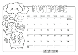 Calendarios Para Imprimir 2015 Calendarios Del Mes De Noviembre 2015 Para Imprimir Y Pintar