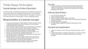 internet job descriptions sample sample of internet job internet job descriptions