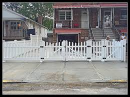 picket fence double gate. 4FT High PVC Scalloped Picket Fence W Double Drive And Walk Gates | East Coast Gate R