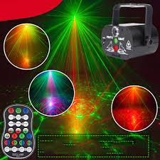 60 Patterns RGB LED Disco Light 5V USB Recharge Laser ...