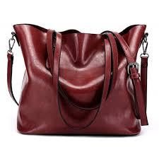 dreubea leather handbag cross shoulder