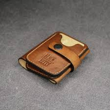 small mens wallet personalized leather