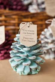 pinecone bridal shower party favor