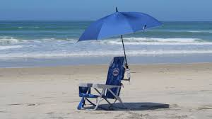beach umbrella and chair.  And Beach Hacks  PVC Chair Umbrella Holder And