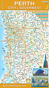 Perth City South West Road Map By Qpa