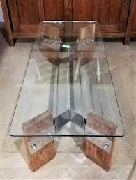 vintage coffee table with glass plate