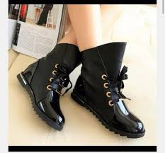 shoes black patent leather combat boots black rubber boots combat boots black combat boots gold swede
