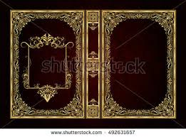 vector clical book cover decorative vine frame or border to be printed on the covers