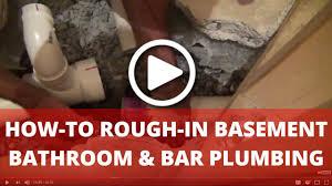 rough in plumbing for basement bathroom