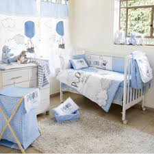 decoration blue elephant crib bedding the pooh play and grey