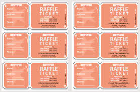 Fundraiser Ticket Template Free Download Adorable 48 Raffle Ticket Templates Make Your Own Raffle Tickets