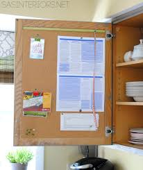 Kitchen Bulletin Board Kitchen Organization Ideas For The Inside Of The Cabinet Doors