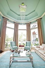 Light Blue Curtains Living Room Mint Curtains Keep Your Living Room Fresh And Stylish Gold Pendant