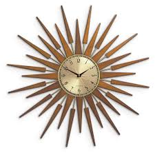 Newgate Pluto Starburst Gold Wall Clock