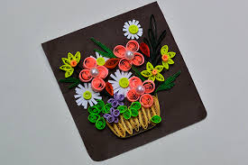 Paper Quilling Flower Bokeh How To Make A Beautiful Quilling Paper Flower Basket For