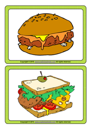 Food Flash Cards Fast Food Esl Printable Flashcards And Game Cards