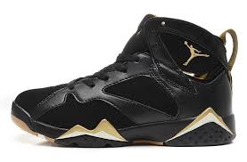 air jordan shoes for girls black. air jordan 7 girls gold medal black metallic for womens on sale-4 shoes o