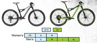 Cannondale Bike Fit Chart 2017 Cannondale Scalpel Si Build Specs Pricing Sizing