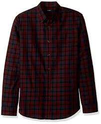 Theory Size Chart Mens Theory Mens Plaid Check Long Sleeve Woven