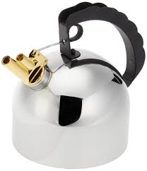 alessi kettle  by richard sapper with melodic whistle  nova
