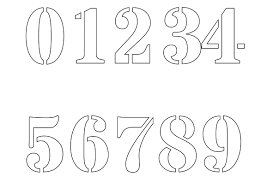 number templates 1 10 free printable number stencils for painting freenumberstencils com