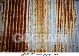 a rusty corrugated iron metal fence zinc wall