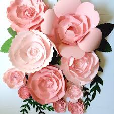 Pink Paper Flower Decorations Paper Flower Wedding Reception Wall Ideas Mid South Bride