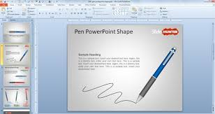 Free Microsoft Powerpoint Template Download Free Pen Powerpoint Shape