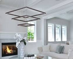 a modern light from lighting paradise makes a stunning statement in this living room