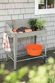 Potting Bench Demeter Metal Potting Bench With Wheels Mobile Potting Bench